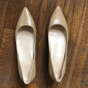 Cole Haan Nike air nude kitten pumps